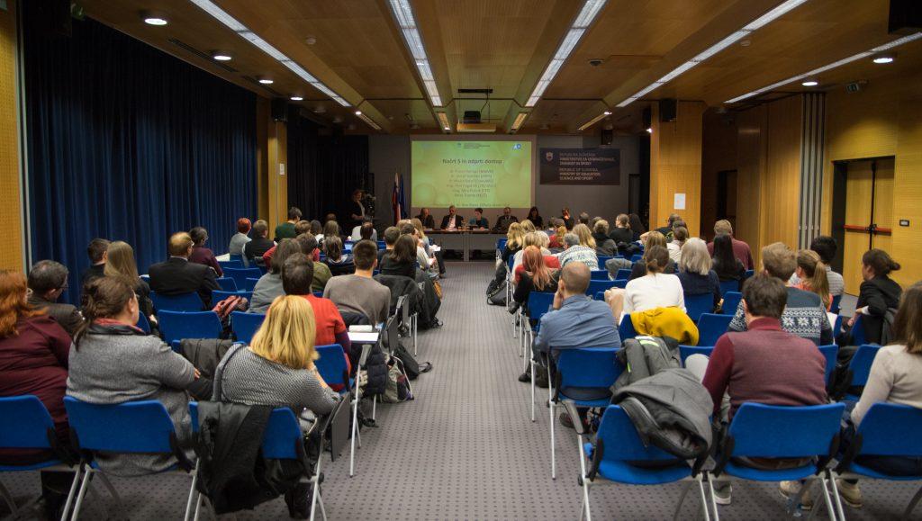 Dogodek Odprta znanost se je odvil 13. 12. 2018 v prostorih MIZŠ