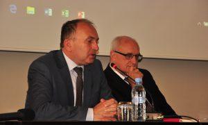 Direktor NAKVIS dr. Franci Demšar in Sir Leszek Borysiewicz, nekdanji rektor Univerze v Cambridgeu